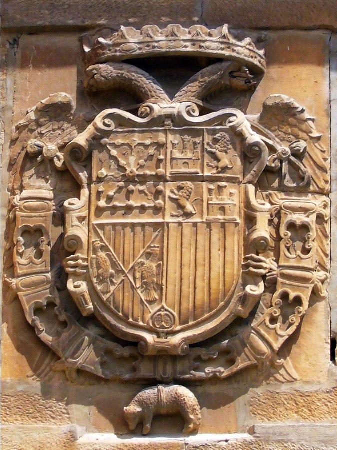 Escudo de Carlos I en Viana2