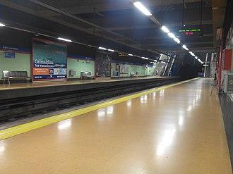 San Lorenzo (Madrid Metro) - Image: Estación de metro San Lorenzo (Madrid) 2601