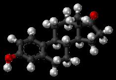 Estrone molecule ball.png