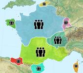 карта мира франкоязычных стран