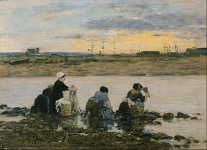 Eugène Boudin - Washerwomen by the River - Google Art Project.jpg