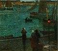 Eugène Chigot, 'Douarnenez, retour des pêcheurs, à la nuit tombante' (1903), Oil on Cardboard, 36.5 x 41.5 cm.jpg