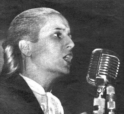 Выступление Эвиты. Фотография 1950 года
