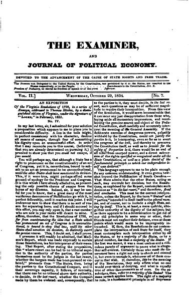 File:Examiner, Journal of Political Economy, v2n07.djvu