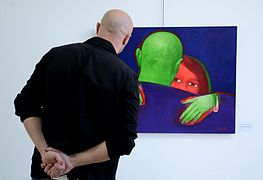 Exhibition LABIRINT Palace of Art 23.04.2014 Minsk Oleg Kostiuchenko.JPG