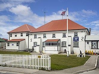 Royal Falkland Islands Police - Image: FAL 2016 Stanley, Falkland Islands–Stanley Police Station