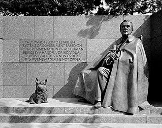 Fala (dog) - Image: FDR Memorial Fala