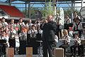 FIL 2013 Roland Becker et le bagad d'Elven.JPG