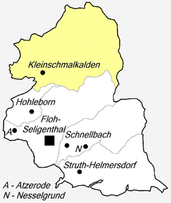 Map of parts of Floh-Seligenthal municipality