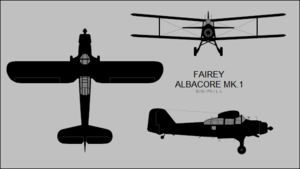 Fairey Albacore Mk.1 three-view silhouette.png