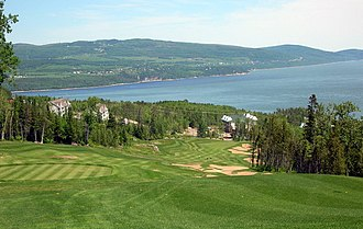 La Malbaie - View of Malbaie from the Manoir Richelieu