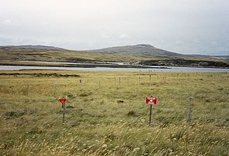 An Argentine minefield at Port William Falklands-Minefield.JPG