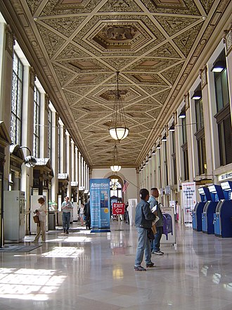 James A. Farley Building - The front reception hall of the post office