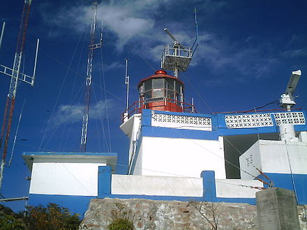 Mazatlan lighthouse seen up close. Faro de Mazatlan.JPG