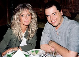 Farrah Fawcett - Fawcett with Craig J. Nevius, the director of Chasing Farrah and Farrah's Story, in 2008