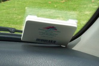 Radio-frequency identification - FasTrak, an RFID tag used for electronic toll collection in California