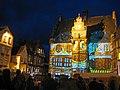 Fassadenbeleuchtung des Marburger Rathauses-anläßlich Don Juan (2011).jpg