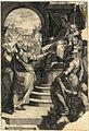 Federigo Zuccaro Moses und Aaron vor Pharaos Thron 1567 ubs G 0877 III.jpg