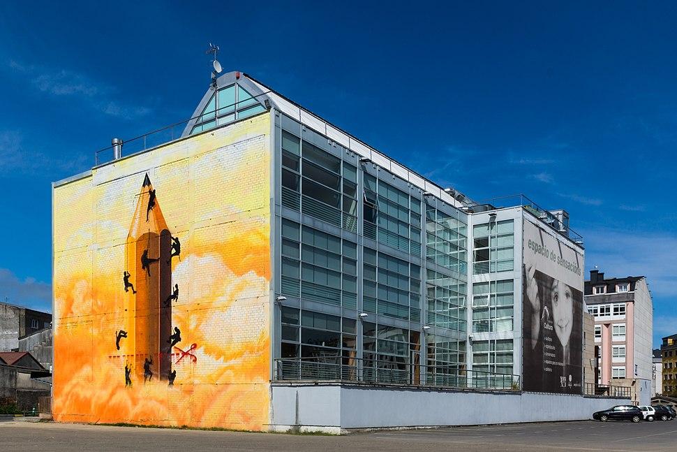 Mural na Casa da Cultura.