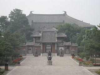 Temple in Yixian, Liaoning Province, China