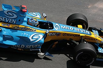 2006 Monaco Grand Prix - The race was won comfortably by Fernando Alonso after closest challengers Kimi Räikkönen and Mark Webber suffered reliability problems.