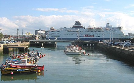 A Ferry (LD Lines) in the port of Le Havre. Ferry Le Havre 2007.jpg