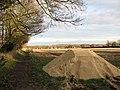 Fertiliser on field's edge - geograph.org.uk - 1605784.jpg