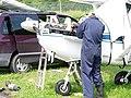 Field maintenance on a 1956 model Cessna 172.JPG