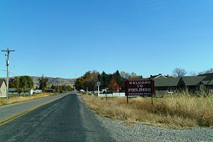 Fielding, Utah - Welcome sign