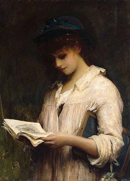 File:Fildes Woman reading.jpg