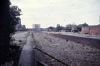 Fishponds railway station - Image: Fishponds railway station in 1972