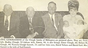 Cheney Clow - Image: Five Generations Clough Family
