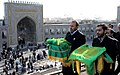 Flag Changing Ceremony from Imam Reza shrine, Mashhad - 8 October 2011 03.jpg
