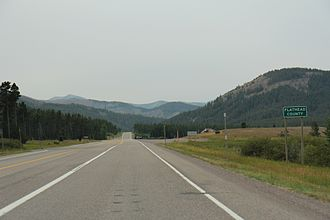 Flathead County, Montana - Entering Flathead County on U.S. Route 2
