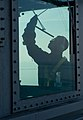 Flickr - Official U.S. Navy Imagery - A Sailor cleans the widows on the bridge..jpg
