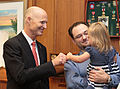 Florida Governor Rick Scott and Kennedi Beahn welcome Down Syndrome Awareness Week 2016 with fist-bumps.jpg