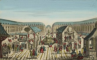 Place Vendôme - The Foire Saint-Ovide around 1770 by Jacques-Gabriel Huquier, Musée de la Révolution française