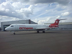 Fokker 100 der OLT Express Germany