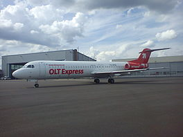 In Fokker 100 fan OLT Express