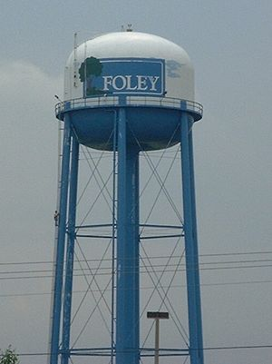 Baldwin County, Alabama - The water tower in central Foley