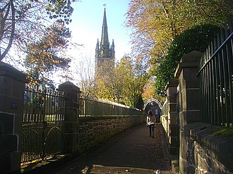 Montrose, Angus - The footpath to the high street is known as the Kirky Steps.