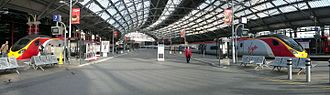 "Liverpool Lime Street railway station - The former ""cab road"", between platforms 7 and 8, which is due to be replaced by two new platforms."