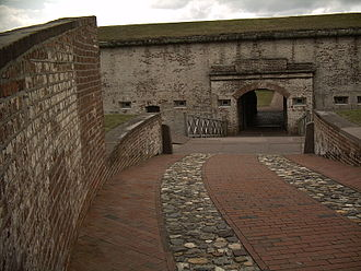 Fort Macon State Park - Road leading into Fort Macon