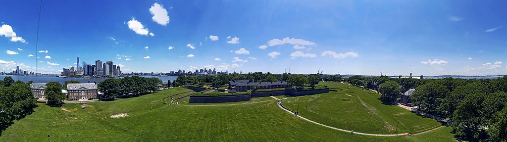Fort Jay Governors Island panorama