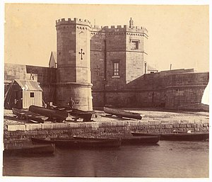 Fort Macquarie - Image: Fort Macquarie ca.1870 from Sydney Streets and Buildings, 1861 ca.1900 chiefly by Kerry & Co