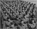 Fort McClellan, AL. Basic trainees march in company formation at the WAC training Center. - NARA - 531452.tif