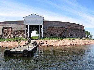 Ruotsinsalmi sea fortress - Fort Slava in Kukouri island