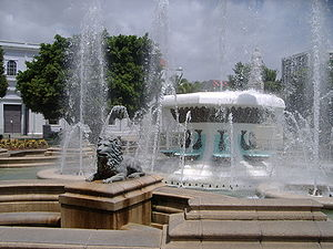 Plaza Las Delicias - The Lions Fountain on Plaza Degetau
