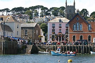 Fowey Town in Cornwall, England
