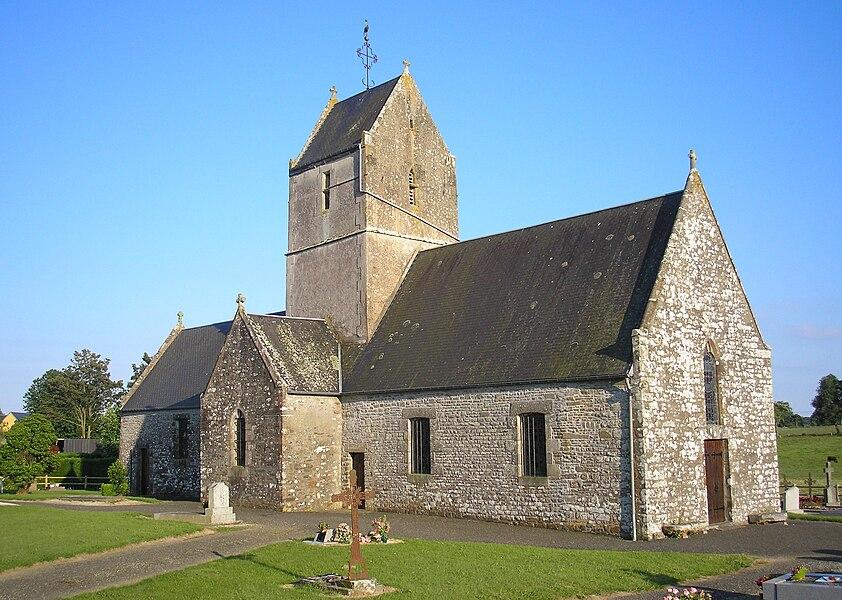 Folligny (Normandie, France). L'église Notre-Dame-de-l'Annonciation du Mesnil-Drey.